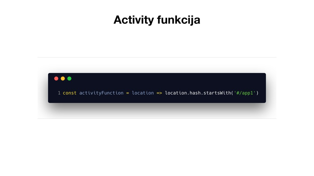 Activity funkcija