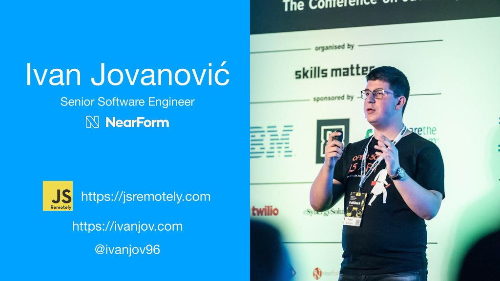 Ivan Jovanović Senior Software Engineer https:/...