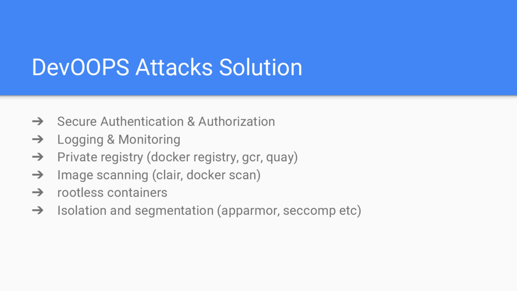 DevOOPS Attacks Solution ➔ Secure Authenticatio...