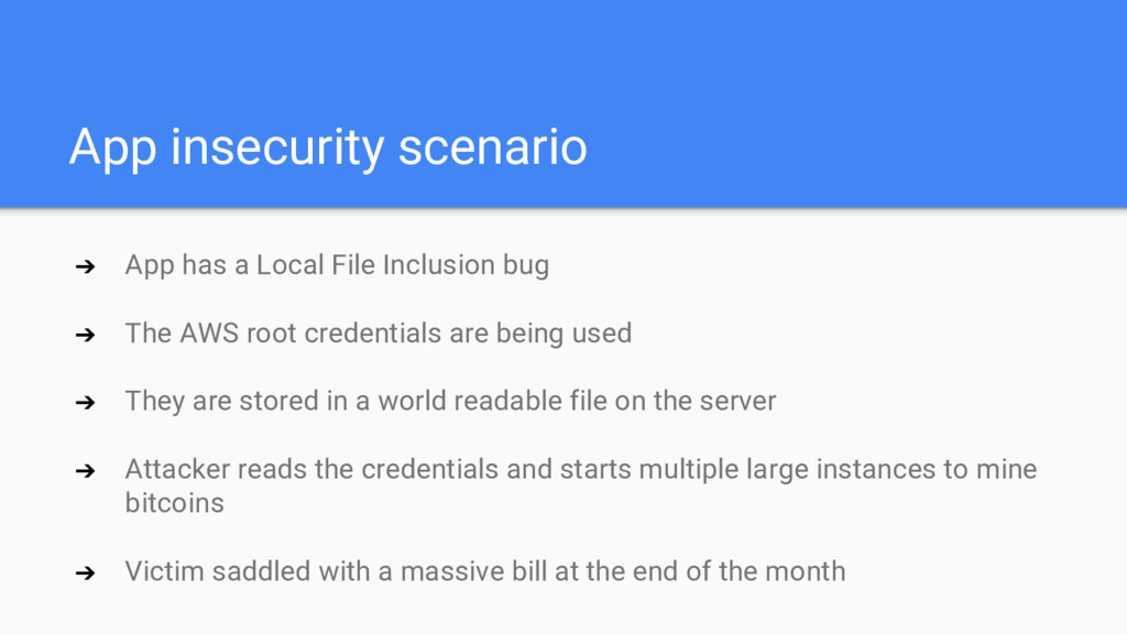 App insecurity scenario ➔ App has a Local File ...