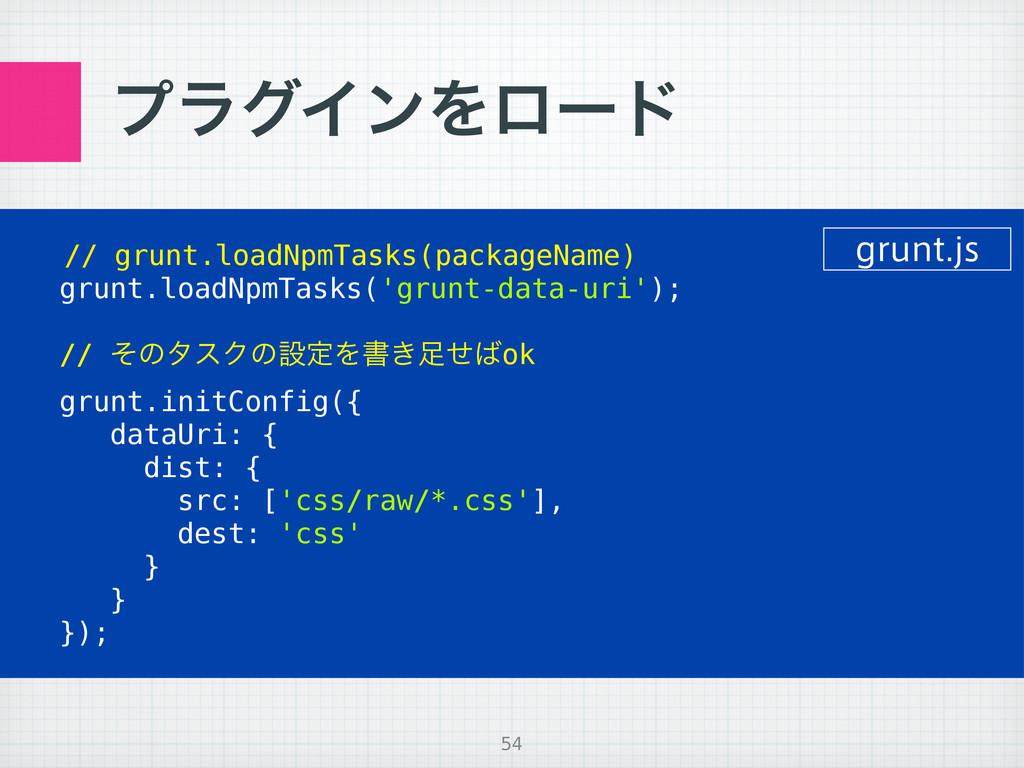 ϓϥάΠϯΛϩʔυ // grunt.loadNpmTasks(packageName) gr...