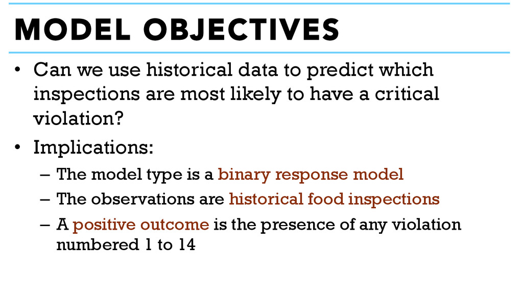 • Can we use historical data to predict which ...