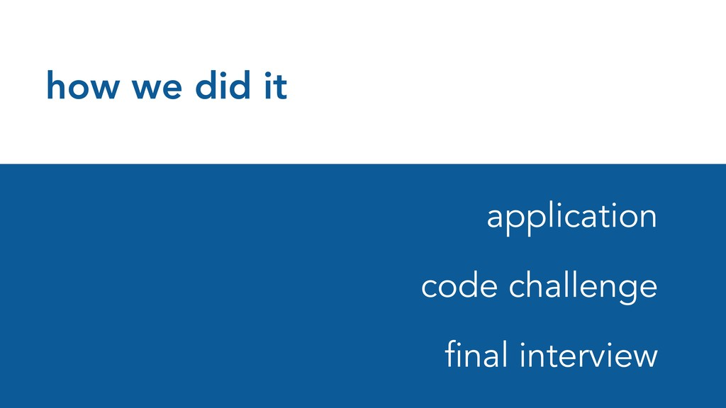 how we did it application code challenge final ...