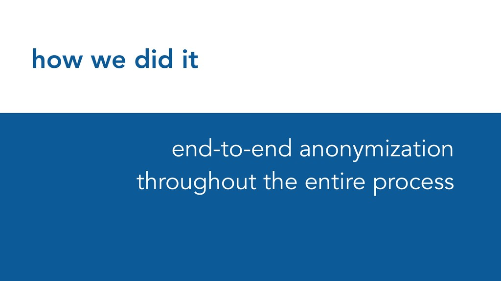 how we did it end-to-end anonymization througho...