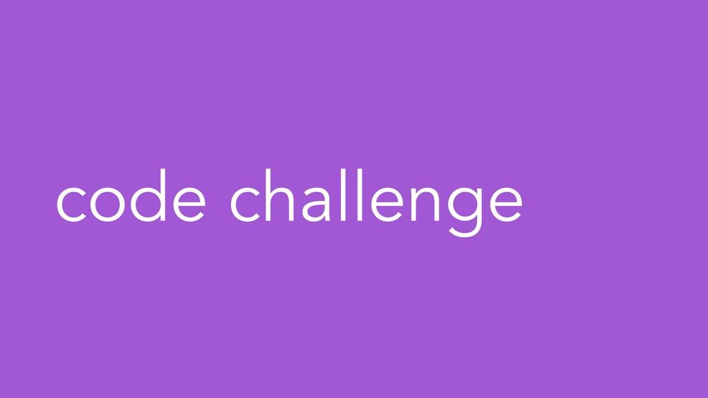code challenge