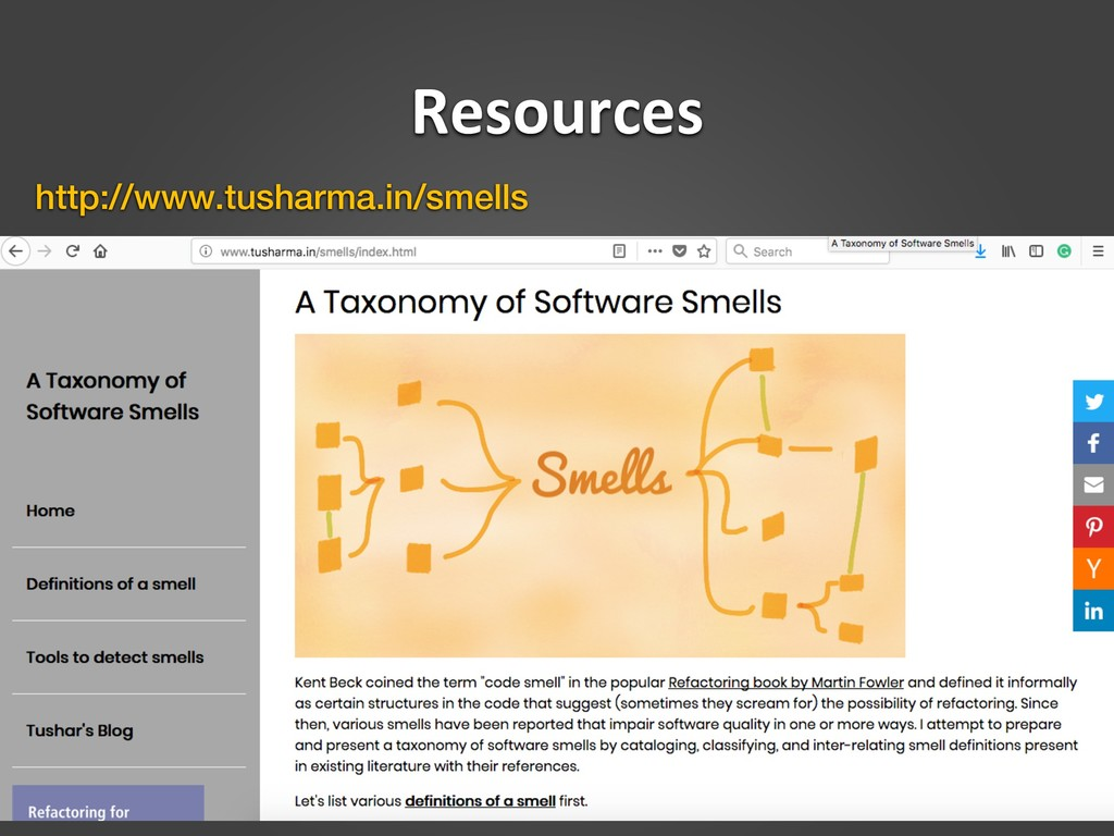 Resources http://www.tusharma.in/smells