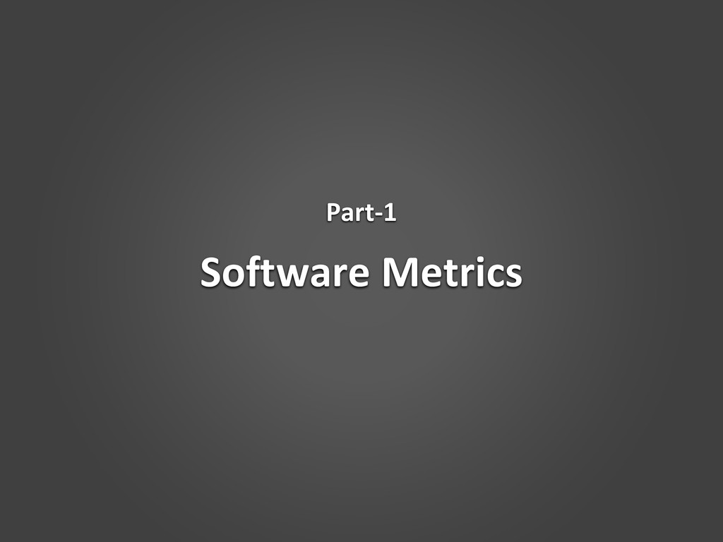 Software Metrics Part-1