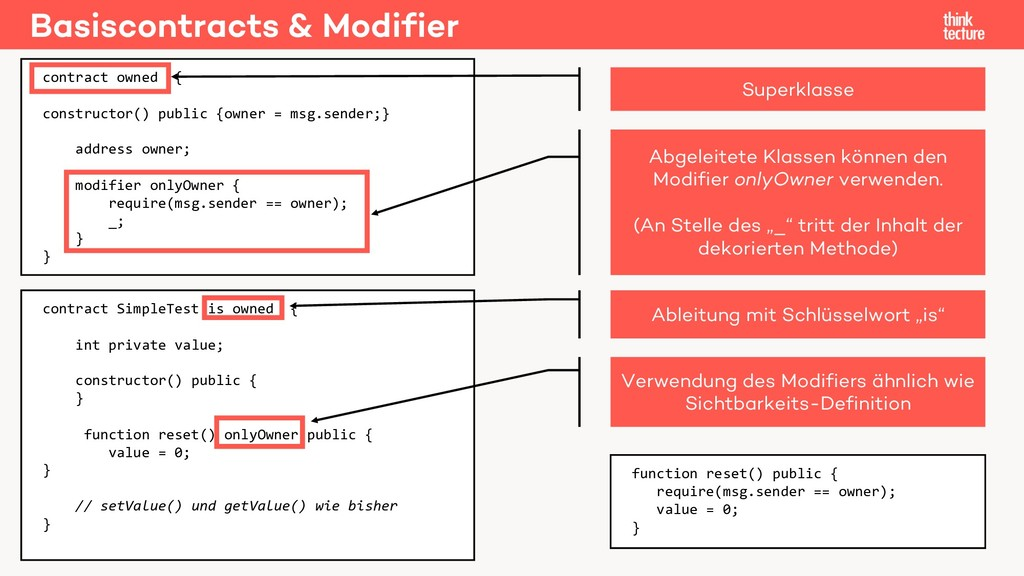 Basiscontracts & Modifier contract SimpleTest i...
