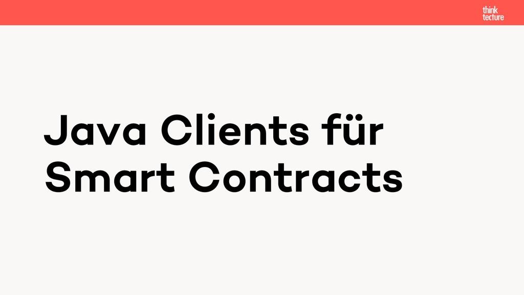 Java Clients für Smart Contracts