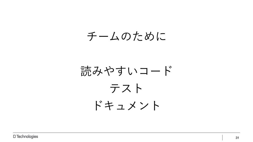 31 νʔϜͷͨΊʹ ಡΈ͍͢ίʔυ ςετ υΩϡϝϯτ