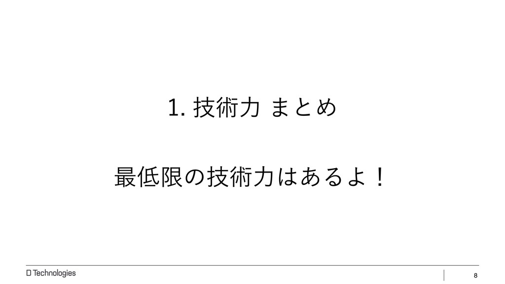 8 ٕज़ྗ·ͱΊ ࠷ݶͷٕज़ྗ͋ΔΑʂ