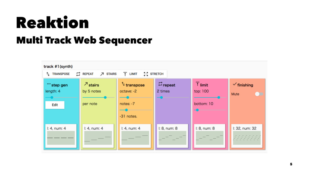 Reaktion Multi Track Web Sequencer 5