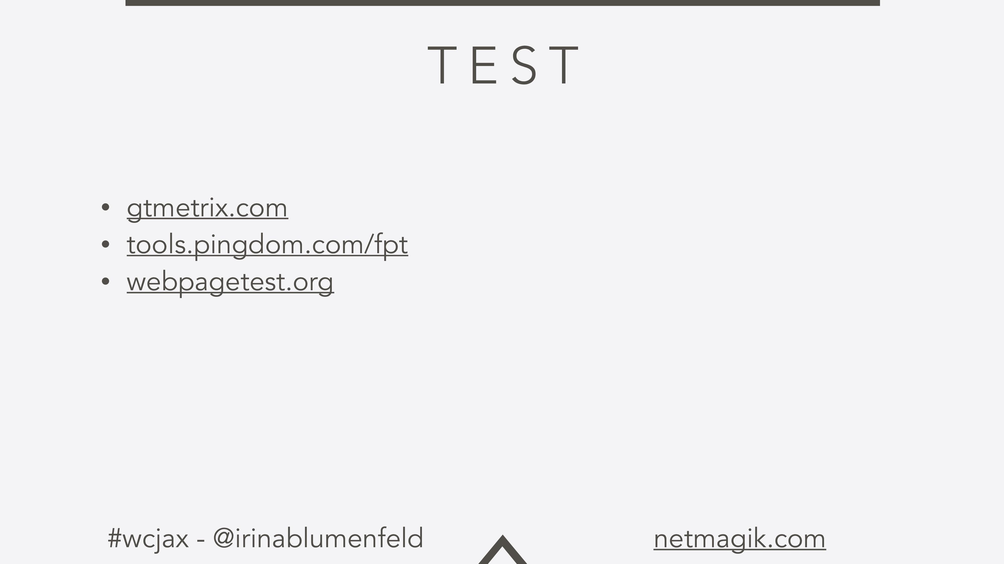#wcjax - @irinablumenfeld netmagik.com T E S T ...