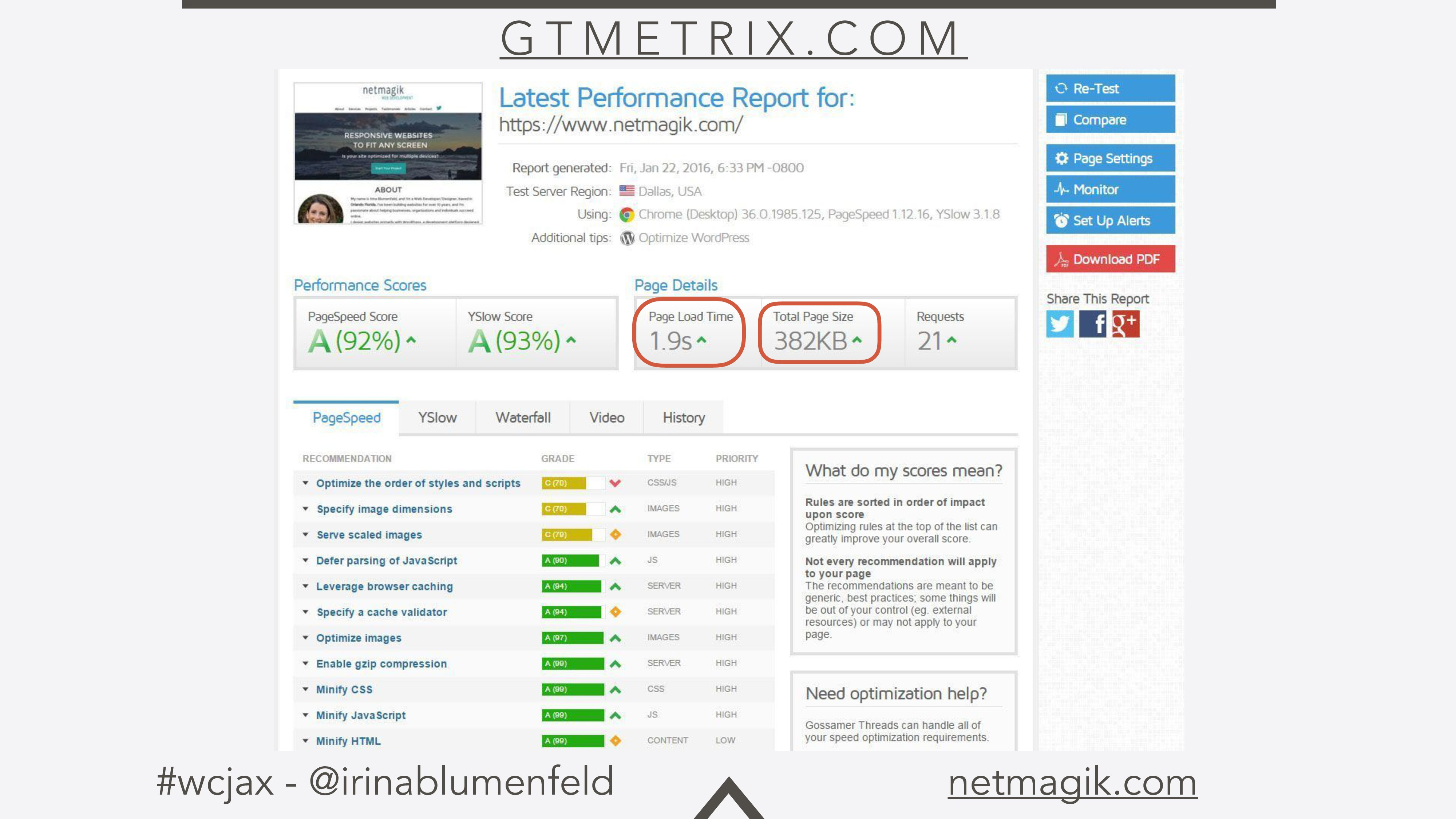 #wcjax - @irinablumenfeld netmagik.com G T M E ...