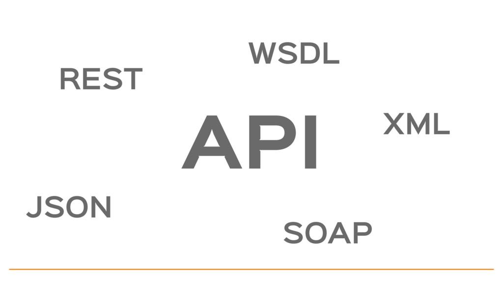 API REST WSDL JSON SOAP XML