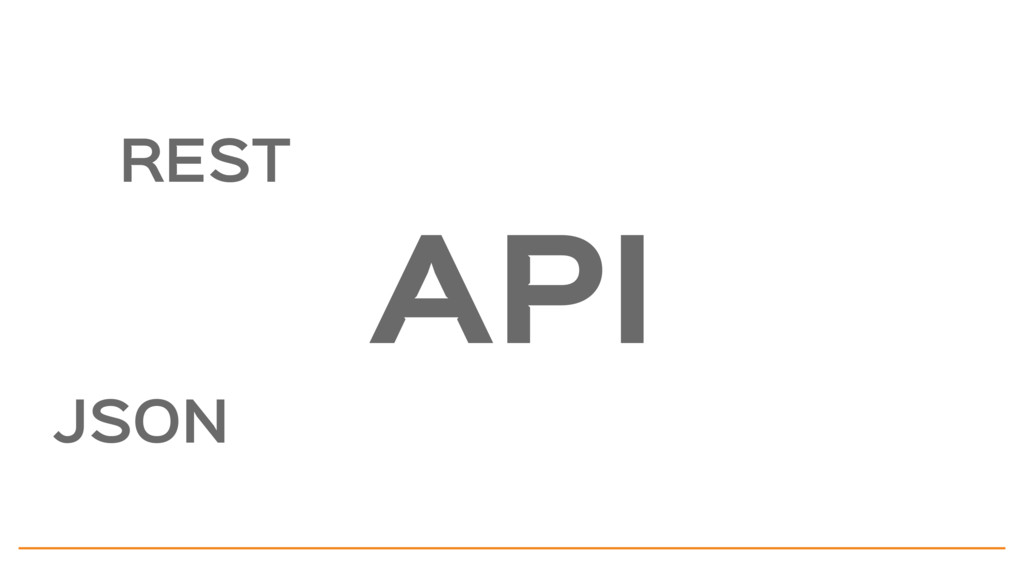 REST JSON API