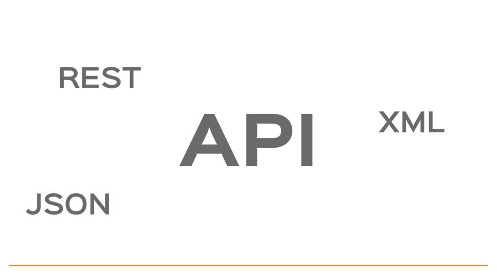 REST JSON XML API