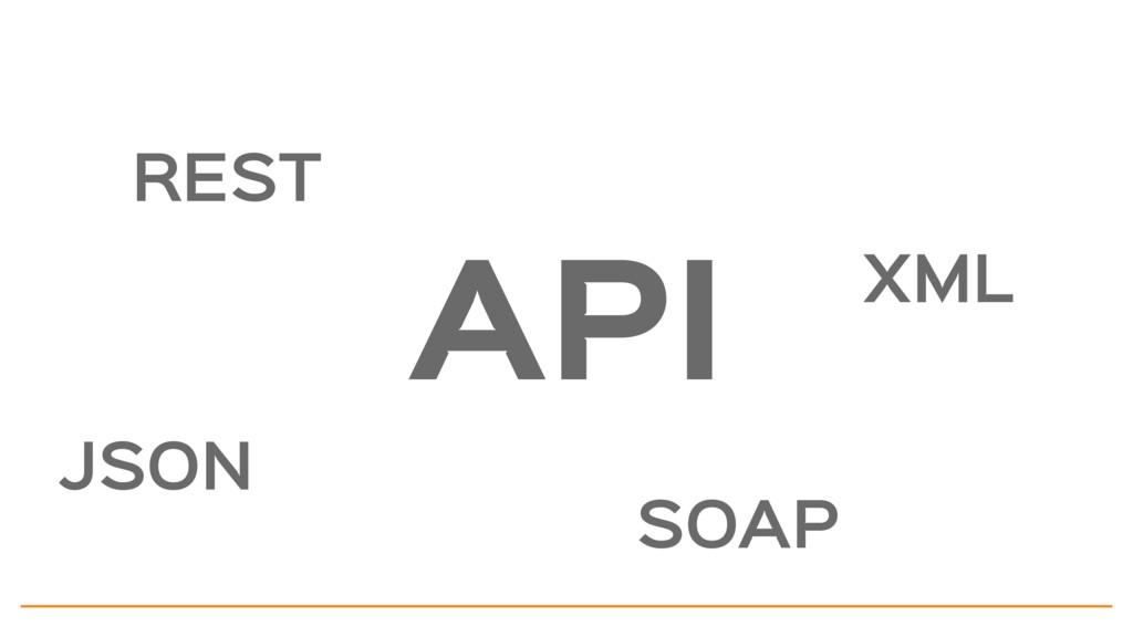 API REST JSON SOAP XML