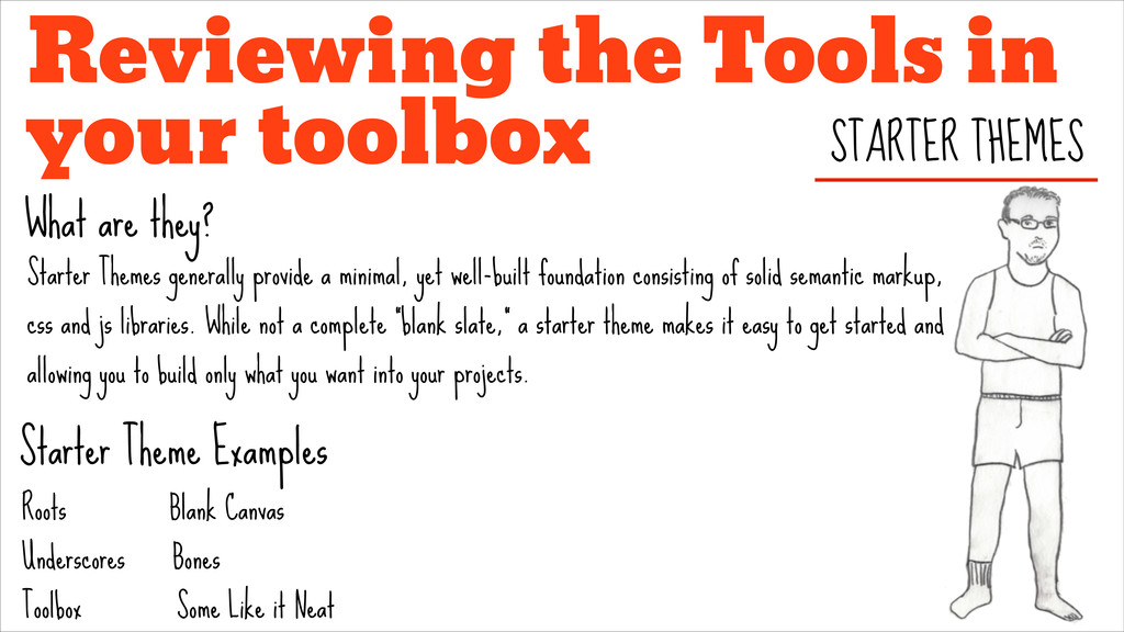 Reviewing the Tools in your toolbox STARTER THE...