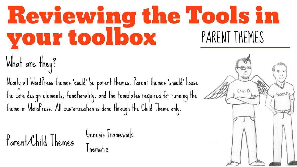 Reviewing the Tools in your toolbox PARENT THEM...