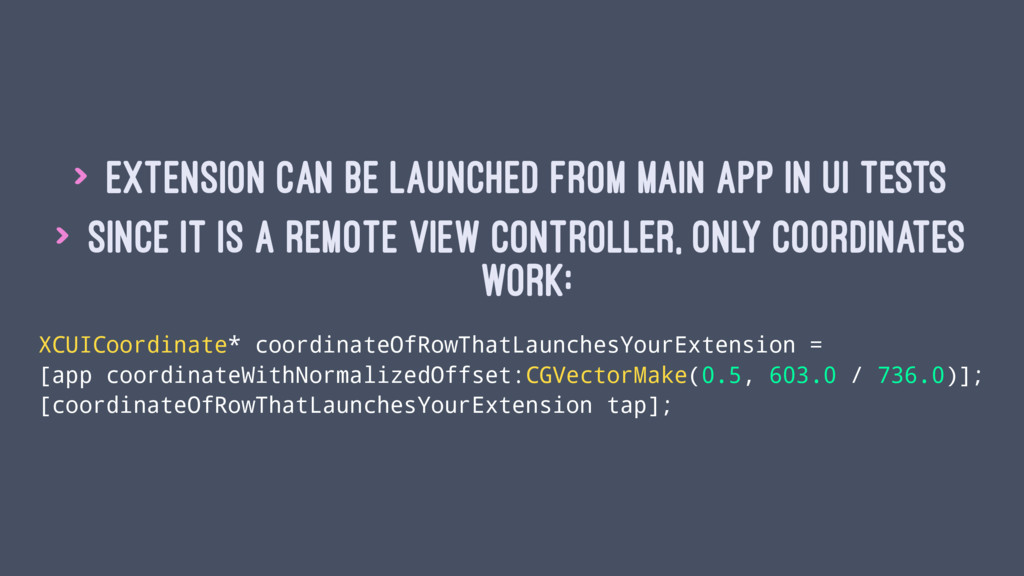 > Extension can be launched from main app in UI...