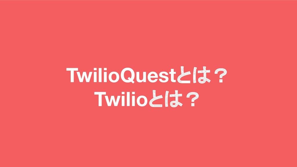 TwilioQuestとは? Twilioとは?