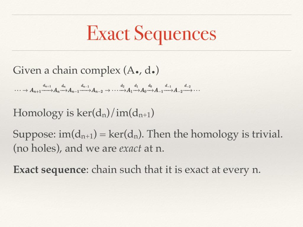 Given a chain complex (A•, d•) Homology is ker(...