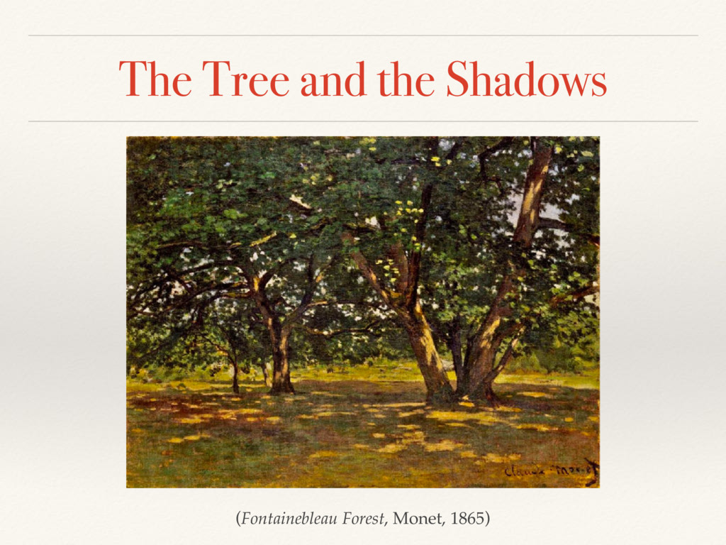 The Tree and the Shadows (Fontainebleau Forest,...