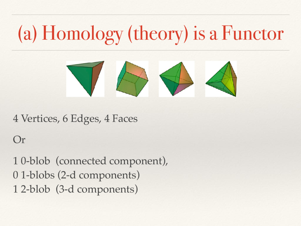 (a) Homology (theory) is a Functor 4 Vertices, ...