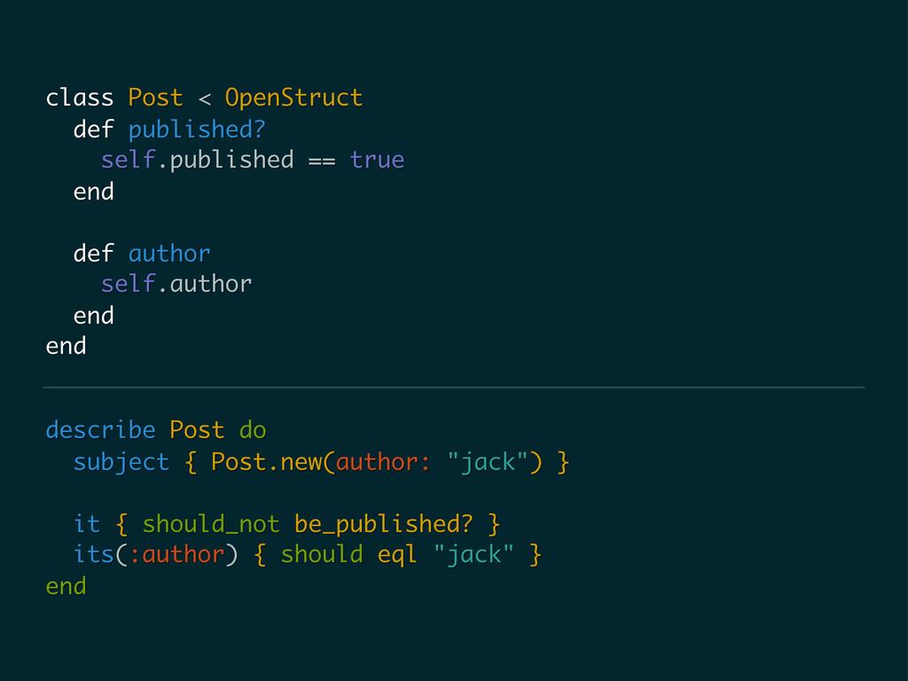 "describe Post do subject { Post.new(author: ""ja..."