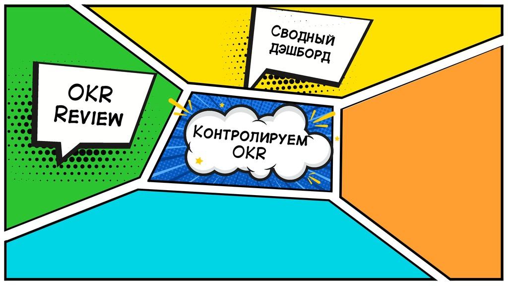 Контролируем OKR OKR Review Сводный дэшборд