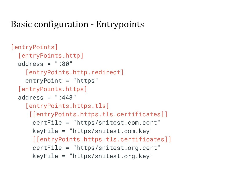 Basic configuration - Entrypoints [entryPoints]...
