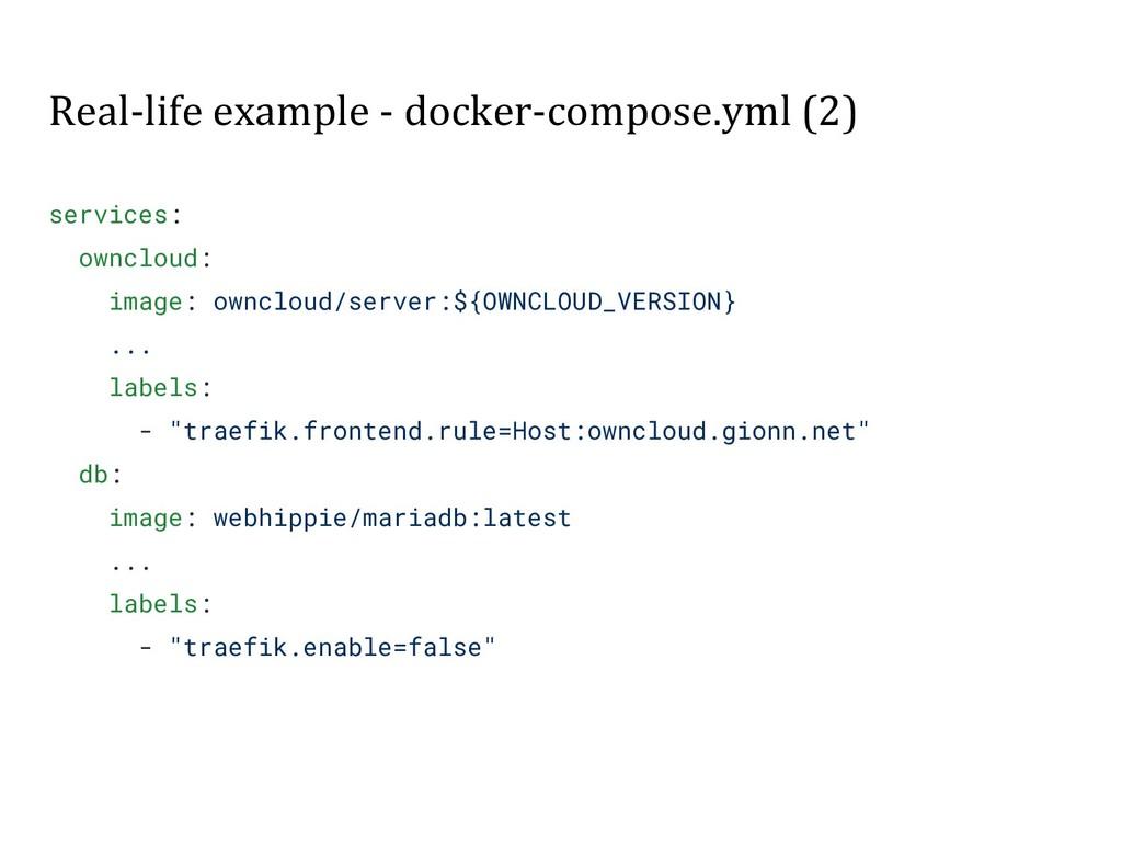 Real-life example - docker-compose.yml (2) serv...