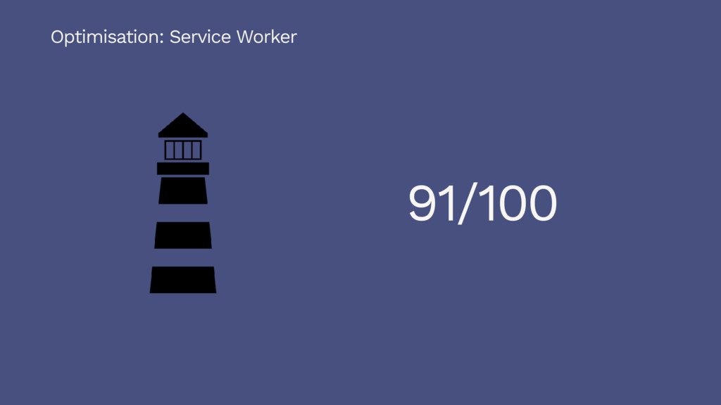 Optimisation: Service Worker 91/100