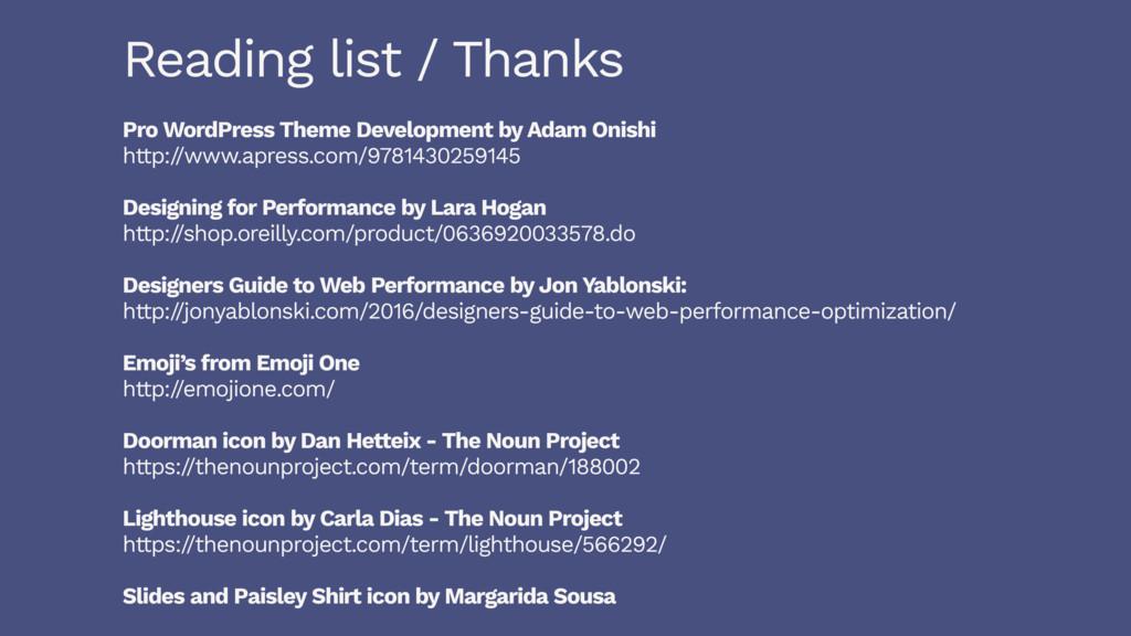 Reading list / Thanks Pro WordPress Theme Devel...