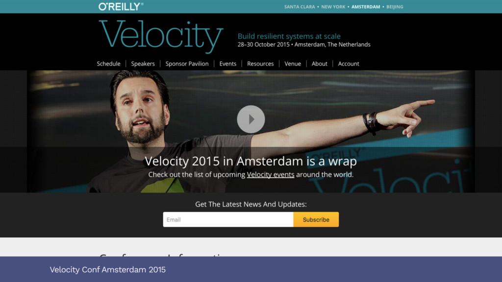 Velocity Conf Amsterdam 2015