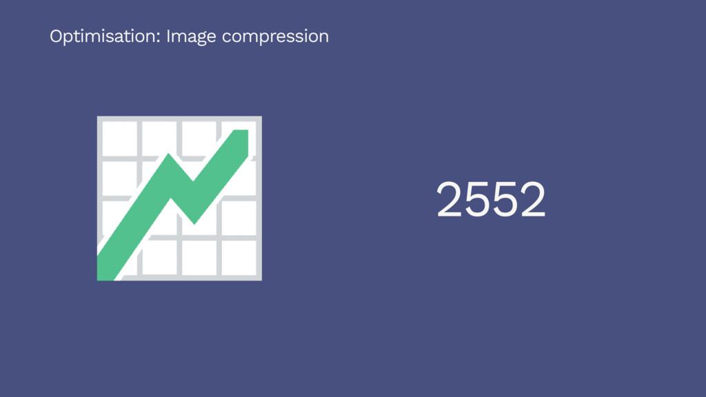 2552 Optimisation: Image compression