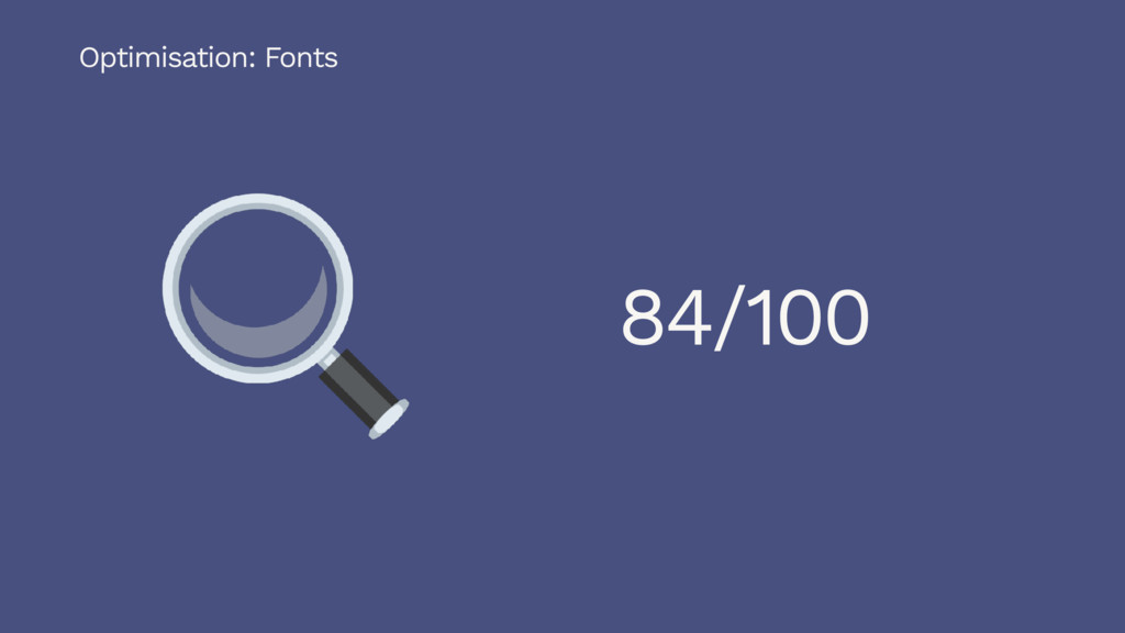 84/100 Optimisation: Fonts