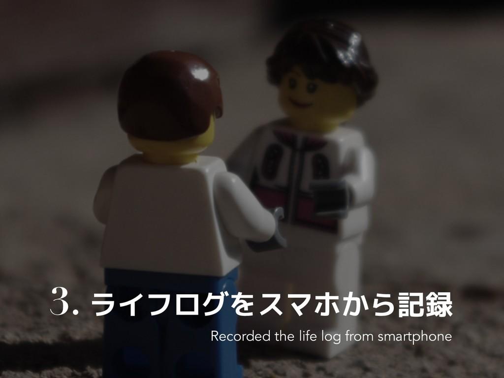 3. ライフログをスマホから記録 Recorded the life log from sma...