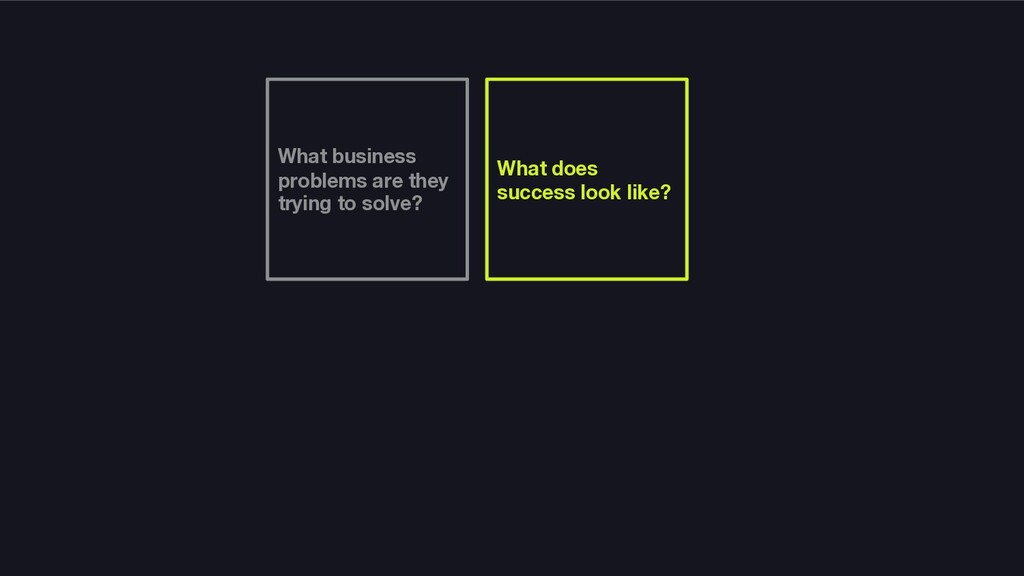 What business problems are they trying to solve...