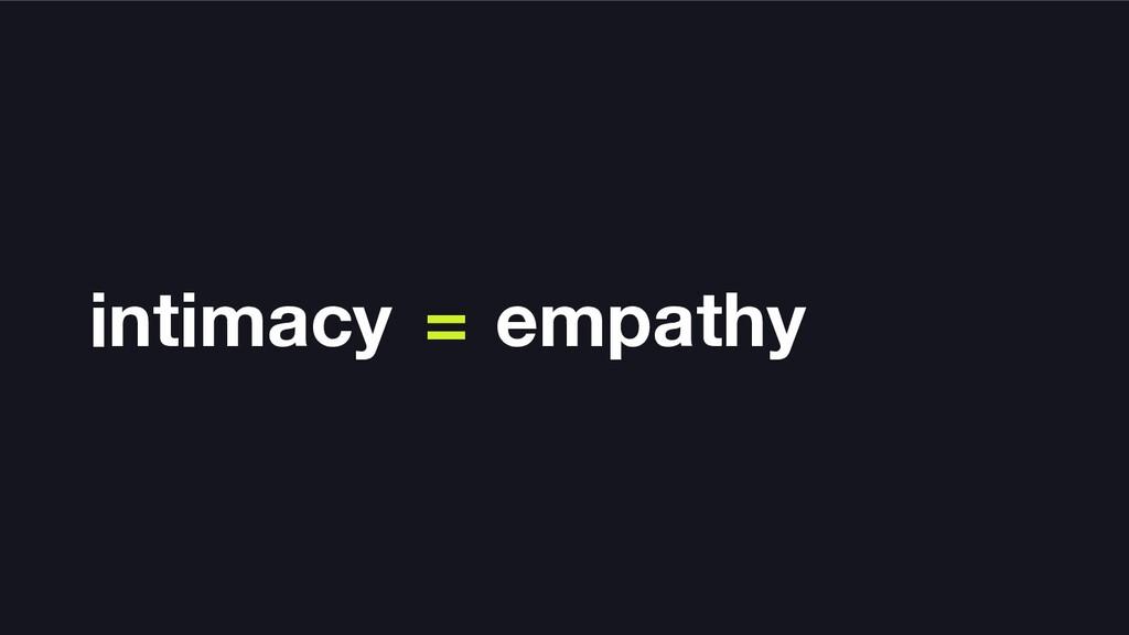 intimacy = empathy