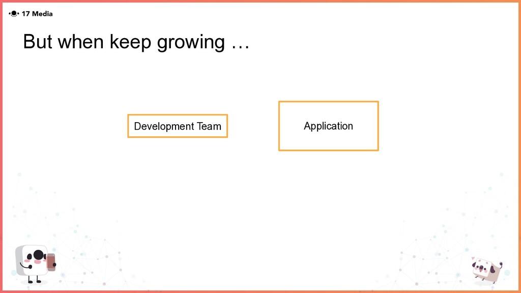 But when keep growing … Development Team Applic...