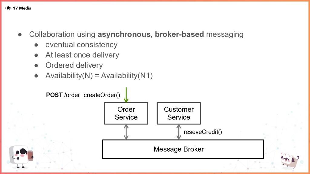 ● Collaboration using asynchronous, broker-base...