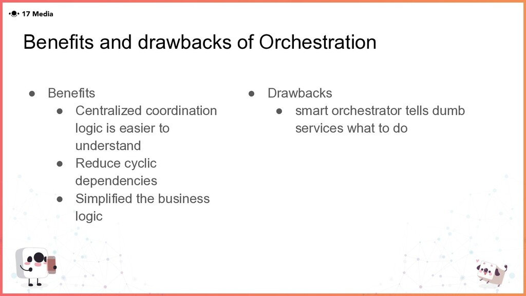 Benefits and drawbacks of Orchestration ● Benef...