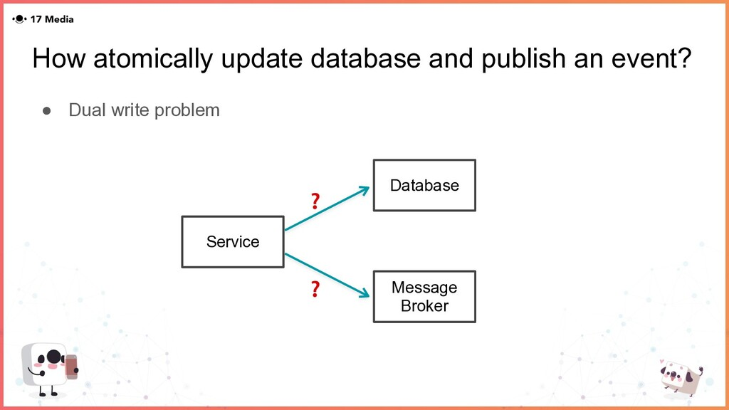 How atomically update database and publish an e...