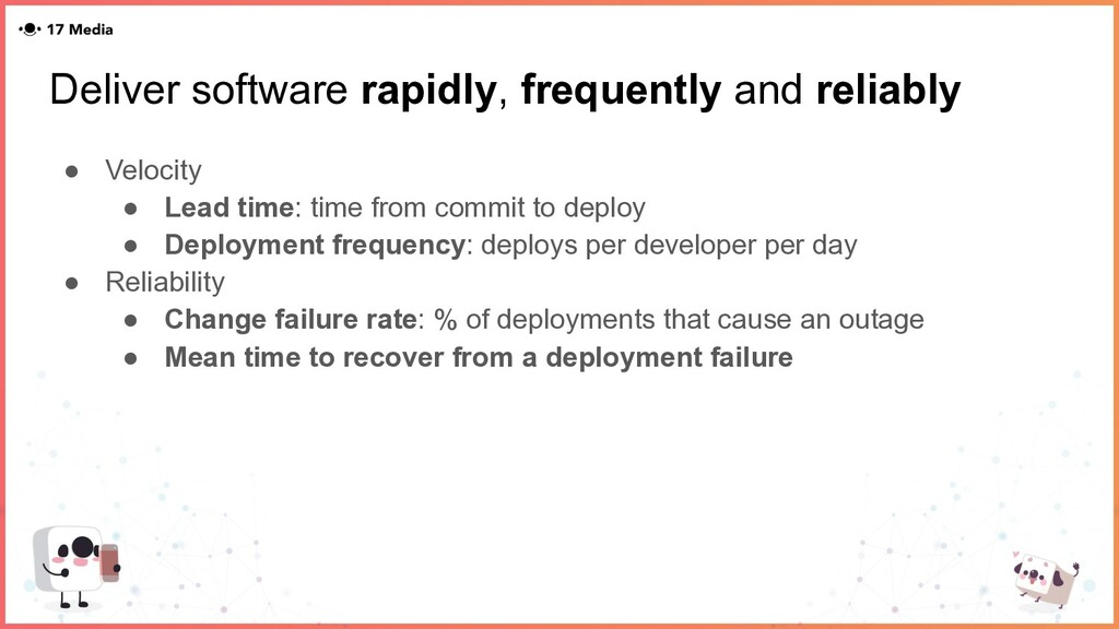 Deliver software rapidly, frequently and reliab...