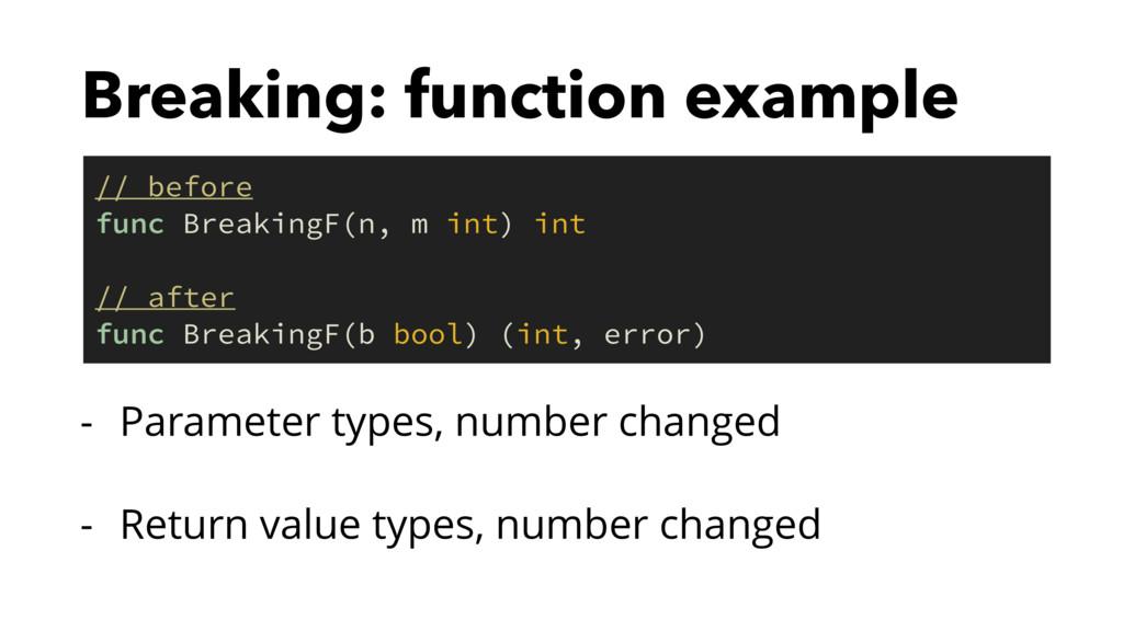 Breaking: function example - Parameter types, n...