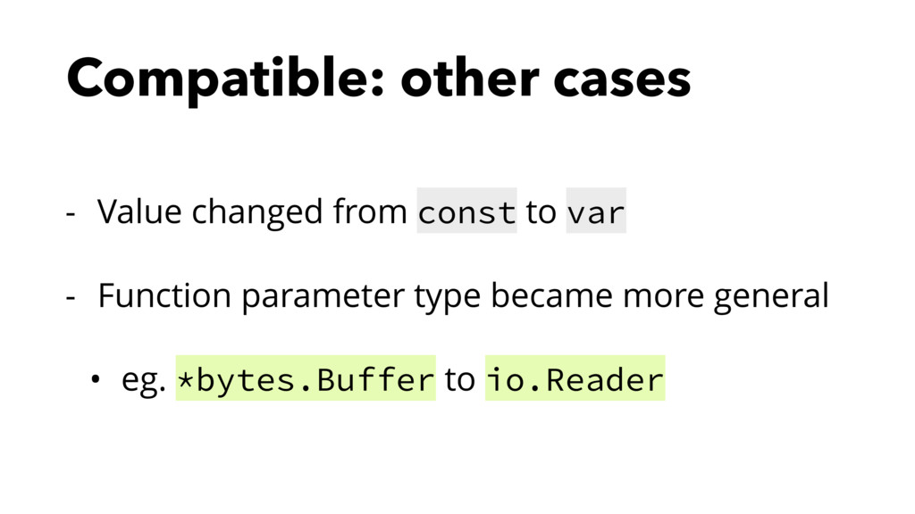 Compatible: other cases - Value changed from co...