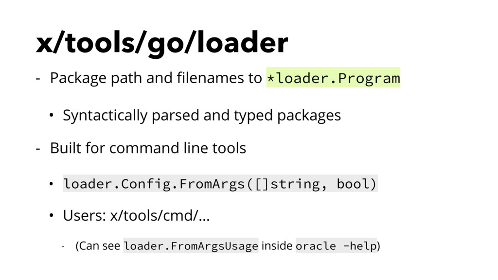 x/tools/go/loader - Package path and filenames t...