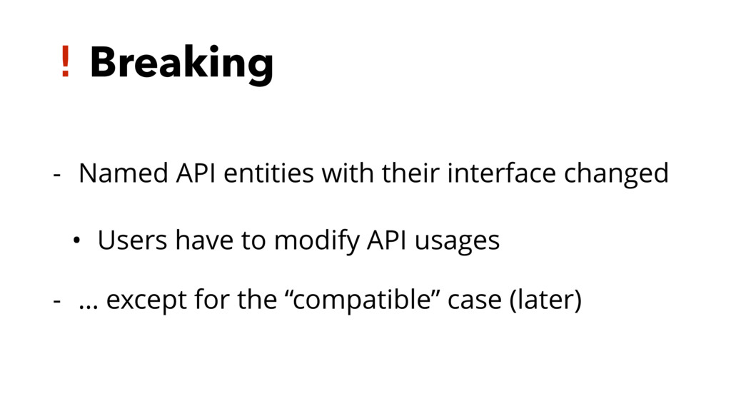 ! Breaking - Named API entities with their inte...